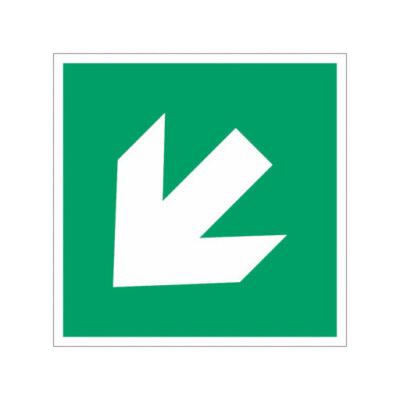 Nooduitgang linksaf naar beneden