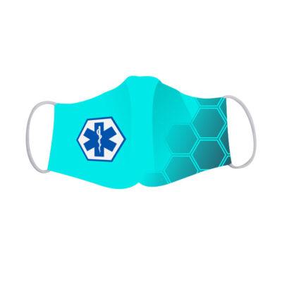Basic mondkapje Ambulancedienst met 'Star of Life'.