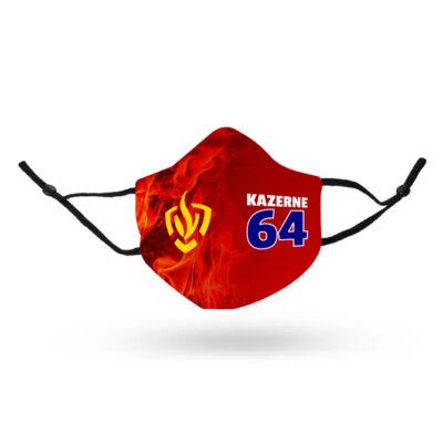Premium mondkapje Brandweer met kazernenummer en beeldmerk
