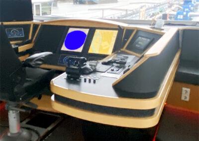Interieurfolie voor een lessenaar van een binnenvaartschip